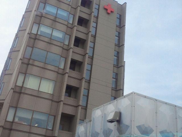 秋田赤十字病院到着