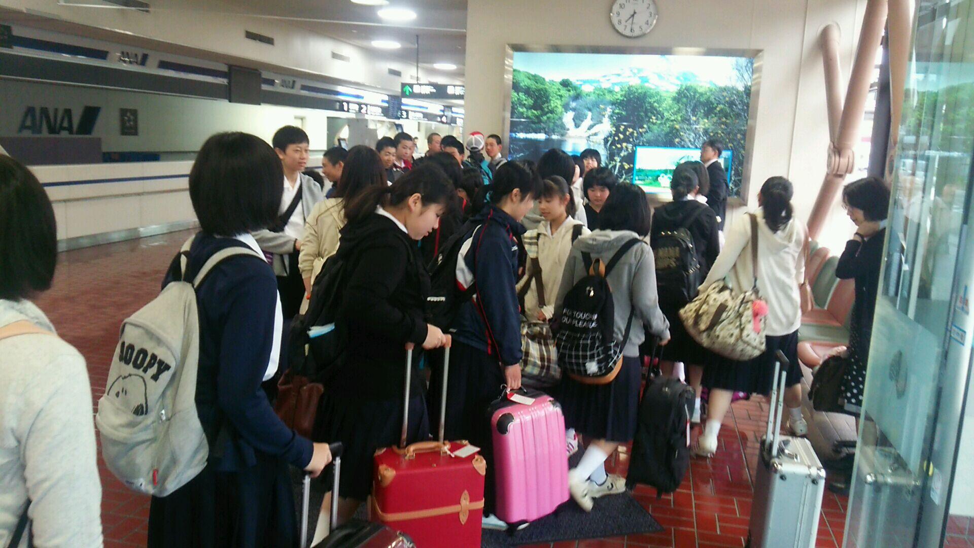 無事、秋田空港に到着